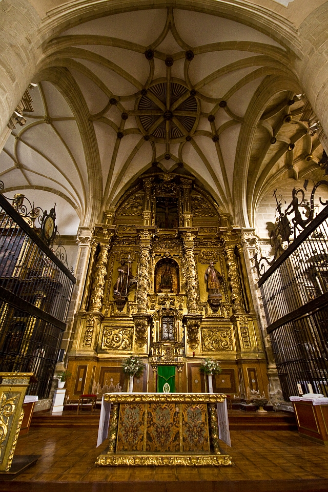 Hidden altar in Puenta la Reina church in Spain like a treasure.