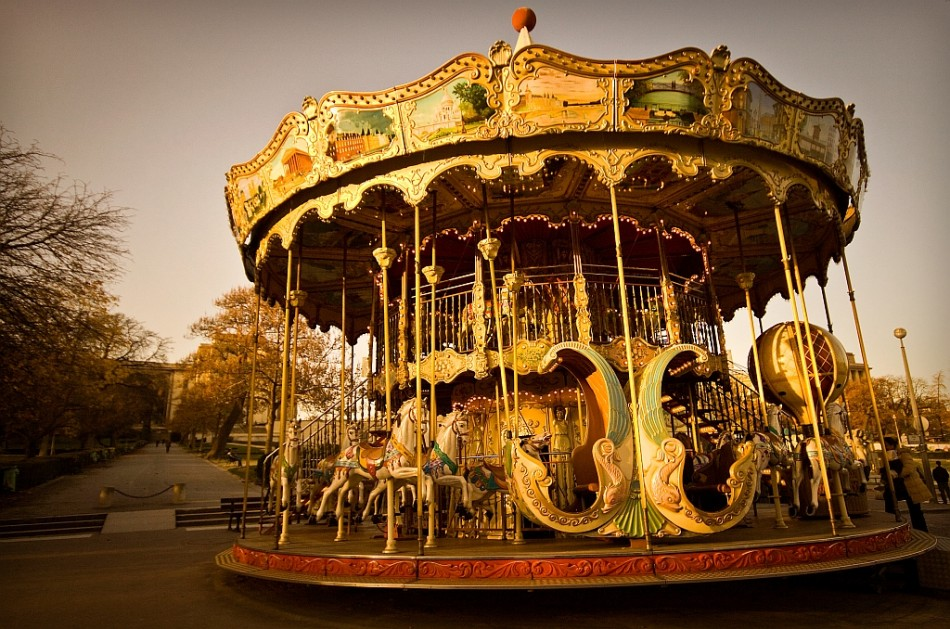 A French Carousel in Paris, France