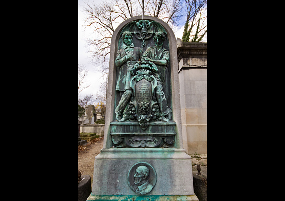 Spooky grave of Victor Schoelcher, a French abolitionist writer in the 1800s.