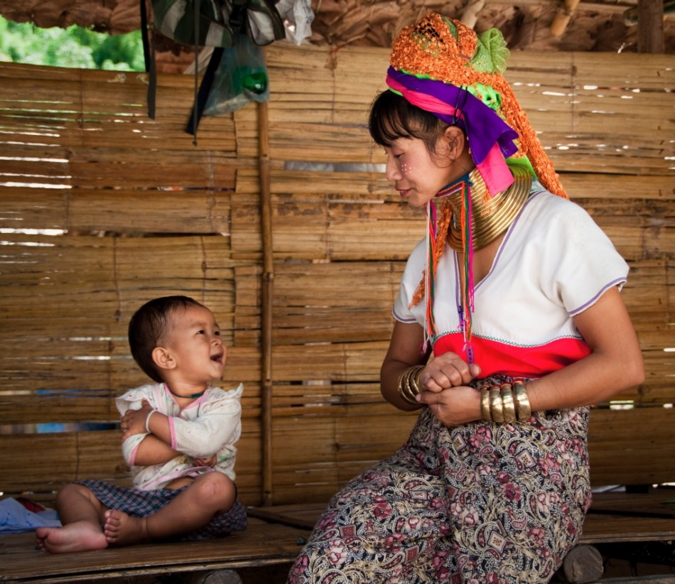 Kayan Tribe Mother and Child - Thailand