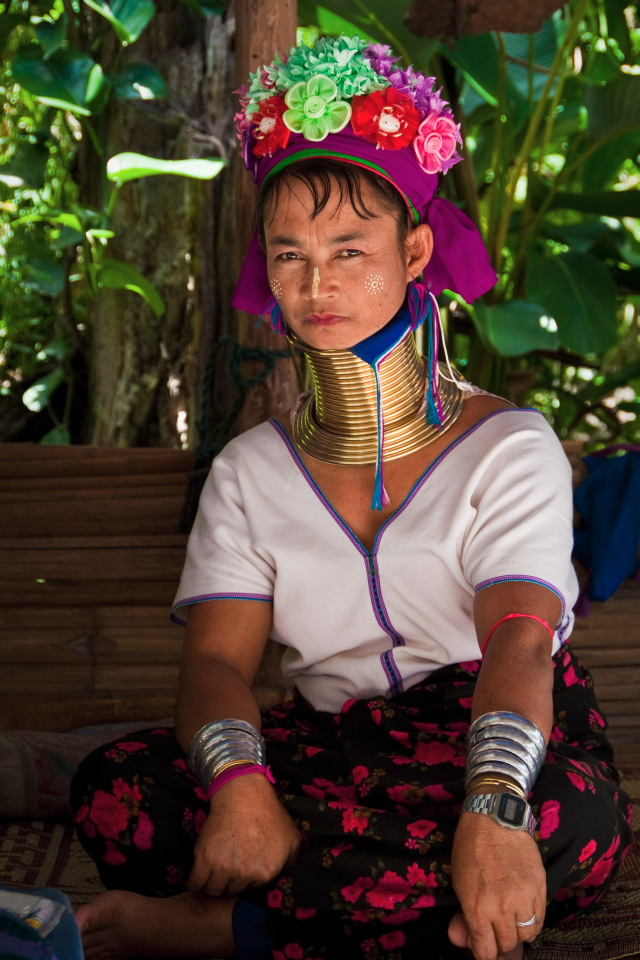 Kayan Long Neck Tribe Lady - Thailand
