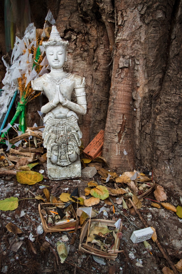 The Broken Deva Statue - Thailand