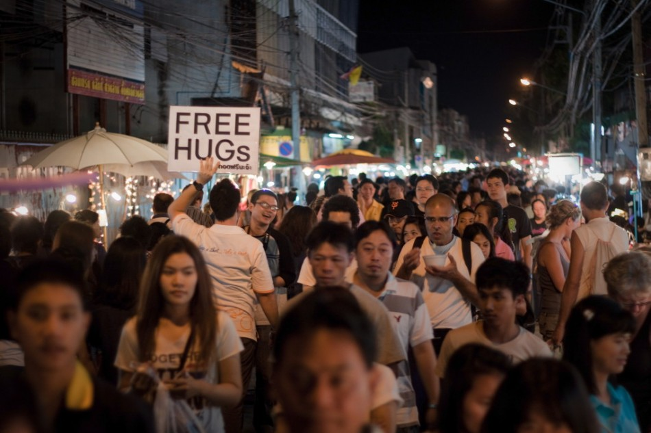 Free Hugs in Chiang Mai - Thailand