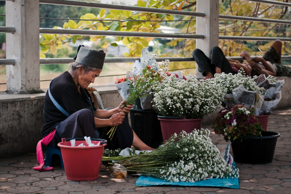 The Flower Lady - Thailand