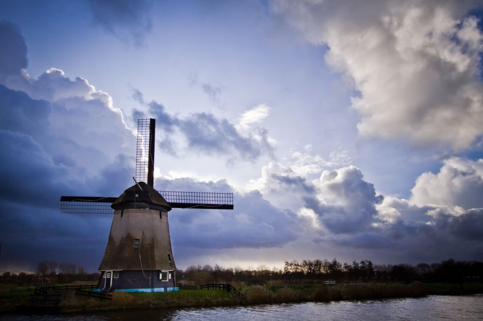 Windmill waiting for the storm ~The Netherlands