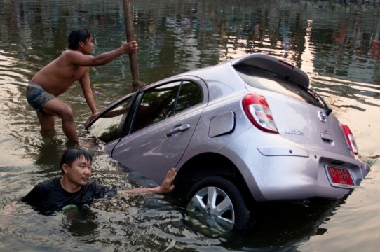 A Car in the Moat ~ Thailand