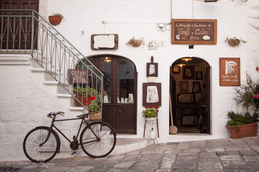 A shop in Ostuni
