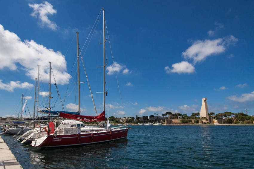 Sailboats and the Sailor's Monument ~ Brindisi