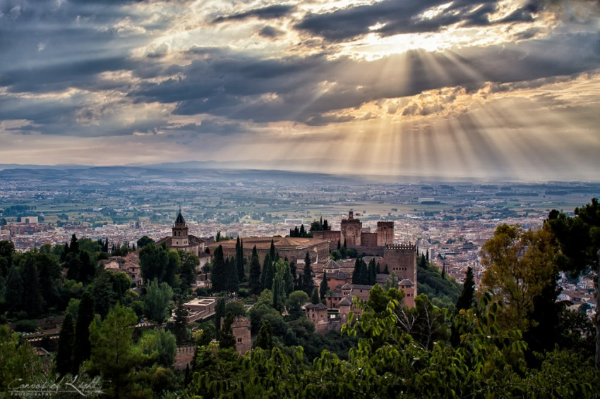 Overlooking the Alhambra - Granada
