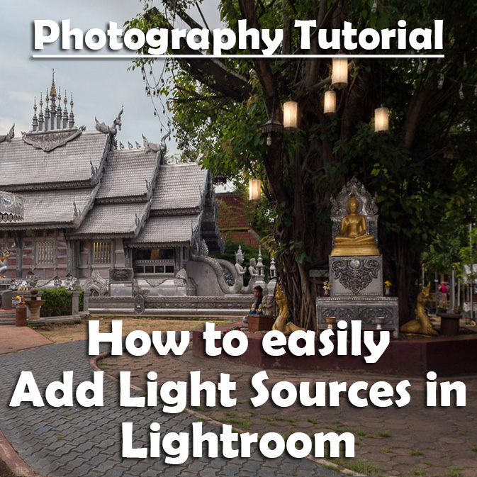How to Add Light Sources in Lightroom tutorial