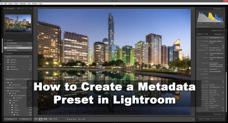How to create a metadata preset in lightroom tutorial