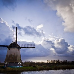 Windmill waiting for the storm ~ The Netherlands