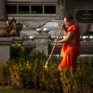 The Sweeping Monk ~ Thailand