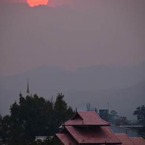 Setting Sun over Chiang Mai ~ Thailand