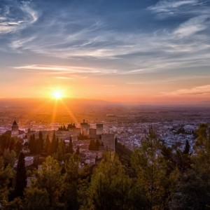 The last rays over the Alhambra ~ Granada