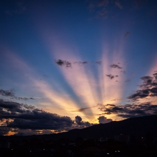 Sun Rays, Clouds and Time Lapse in Chiang Mai ~ Thailand