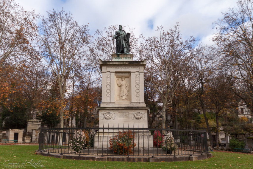 A monument in honor of Casimir Perier, a famous French politician under the reign of Louis Philippe I in paris.