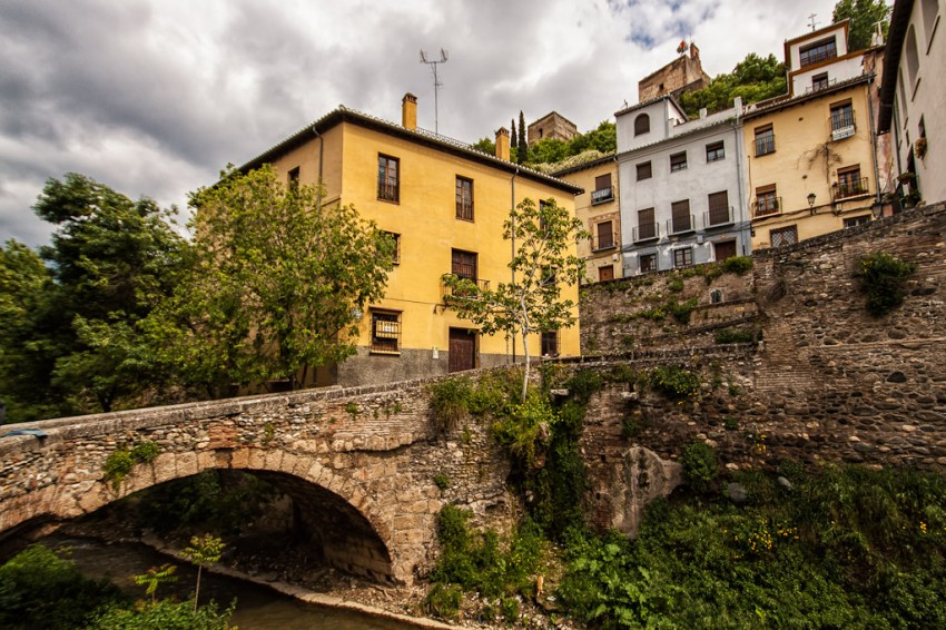 A stone bridge near Alhambra in Albayzin ~ Granada, Spain