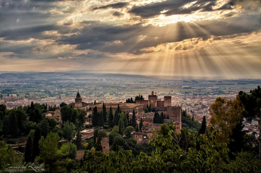 Overlooking the Alhambra in Granada, Spain