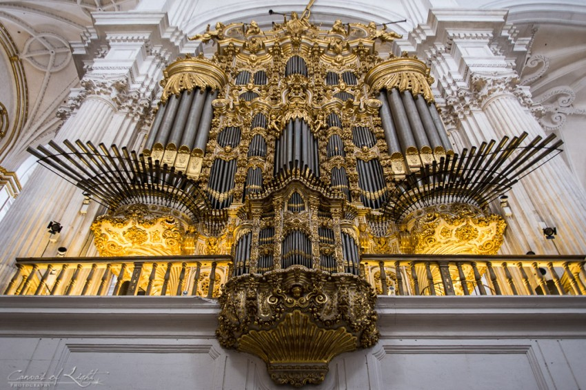 Golden Pipe Organ - Granada, Spain
