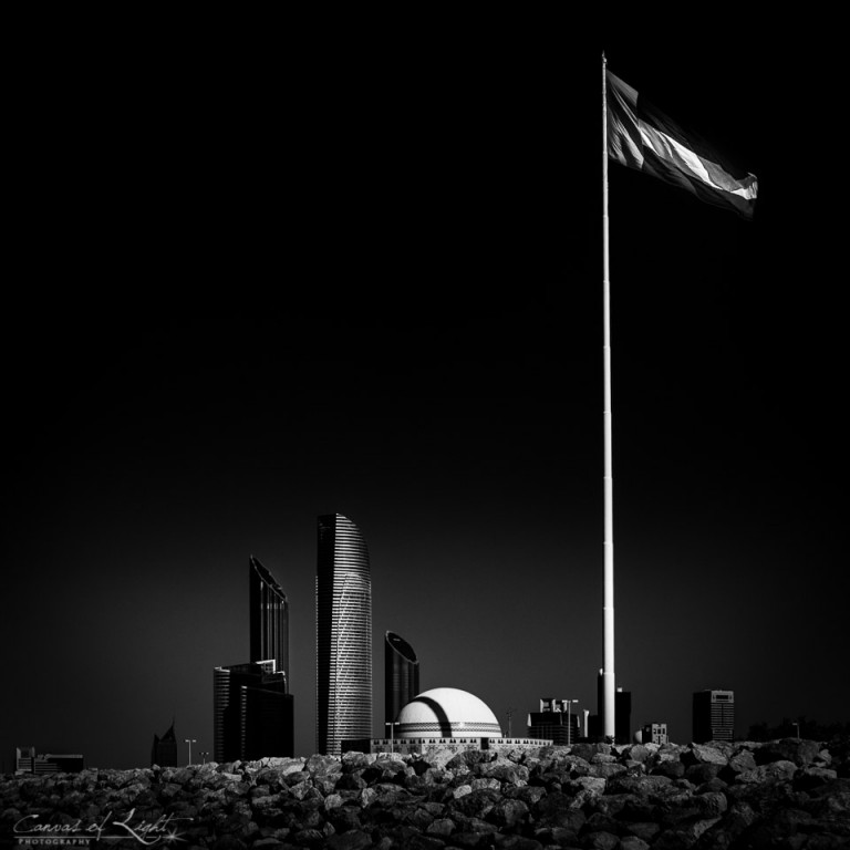 Abu Dhabi in monochrome