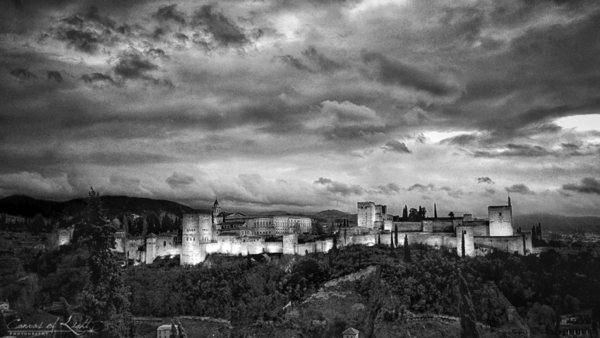 Alhambra in black and white - Spain