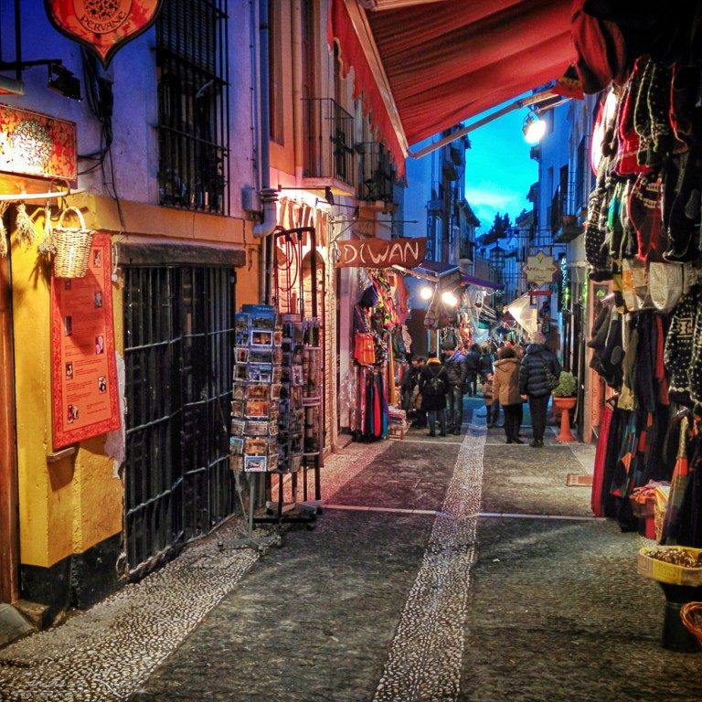 Moroccan shops in Granada - Spain